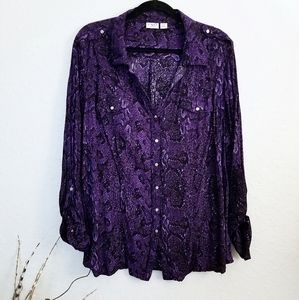 Women's Purple Blouse by Cato